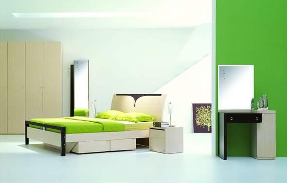 Спальня в стиле хайтек - Строительная.